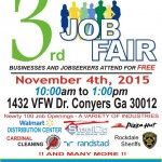 Rockdale Job Fair – Nov 4th