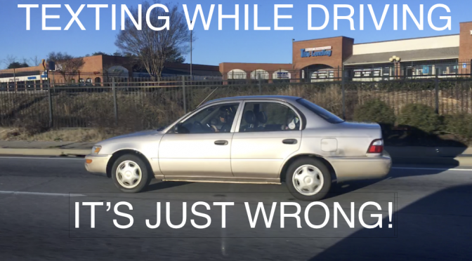 Texting & Driving is Just As Bad As DWI – Video